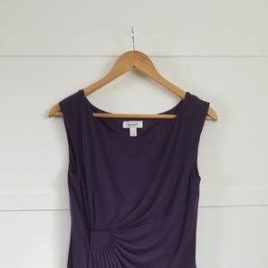 Dark purple wrap dress